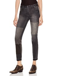 Free People Patched And Relaxed Skinny Jeans In Kite
