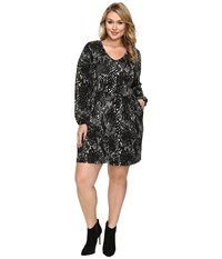 Tart Plus Size Robby Dress Abstract Python Women's Dress Black