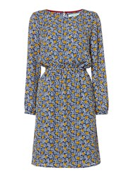 Dickins And Jones Wendy Waisted Spot Printed Dress Multi Coloured