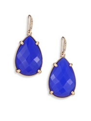 Abs By Allen Schwartz Jewelry Sunset Blvd Teardrop Earrings Gold Red Gold Blue