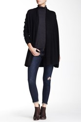 Dreamers By Debut Open Front Lightweight Knit Cardigan Black