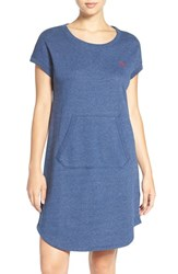 Lauren Ralph Lauren Women's Terry Nightgown Indigo Heather