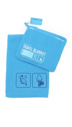 Flight 001 Emergency Travel Blanket Blue