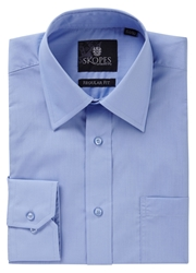 Skopes Easy Care Regular Fit Long Sleeve Shirt Blue