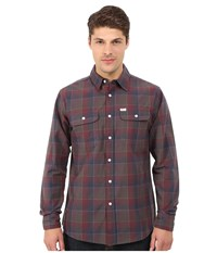 Matix Clothing Company Wesson Flannel Shirt Oxblood Men's Long Sleeve Button Up Red