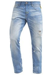 Meltin Pot Melton Straight Leg Jeans Destroyed Denim