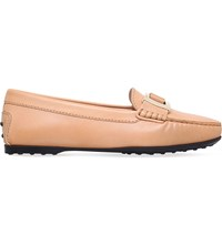 Tod's Gommio Heaven Leather Driving Shoes Peach