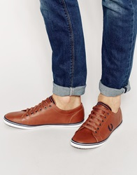 Fred Perry Kingston Leather Plimsolls Brown