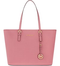 Michael Michael Kors Jet Set Travel Saffiano Leather Tote Misty Rose
