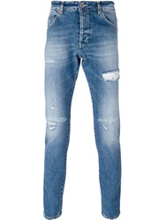 Dondup Distressed Washed Jeans Blue