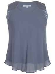 Chesca Jersey Lined Chiffon Cami Steel