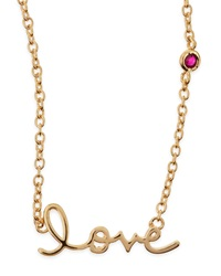 Shy By Sydney Evan Love Bezel Ruby Pendant Necklace