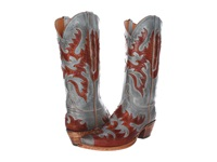 Lucchese L4721 Sky Blue Burnished Mad Dog Goat Cowboy Boots Silver