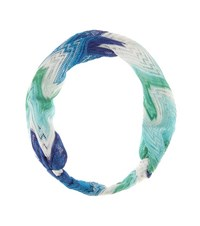 Missoni Mare Crochet Knit Hairband Blue