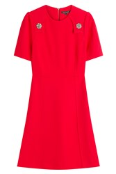 Tara Jarmon Dress With Embellishment Red