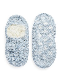 Lemon Knit Faux Fur Lined Slippers Glacier