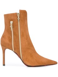 Cesare Paciotti Zip Detail Ankle Boots Brown