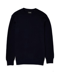 Only And Sons Pique Crew Neck Jumper Navy