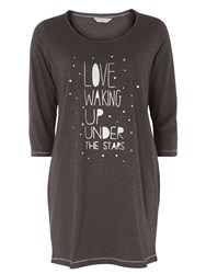 Dorothy Perkins Love You To The Moon And Back Nightshirt Grey
