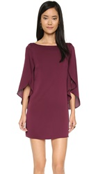 Milly Butterfly Sleeve Dress Burgundy
