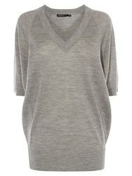 Karen Millen V Neck Tunic Top Grey