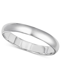 Macy's 14K White Gold Ring 3Mm Comfort Fit Wedding Band