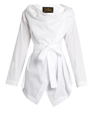 Vivienne Westwood Square Cotton Poplin Blouse White