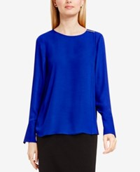 Vince Camuto Embellished Double Layer Blouse Anchor Blue