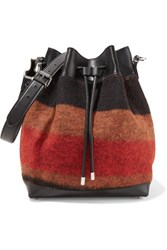 Proenza Schouler Large Wool Blend And Leather Bucket Bag Black