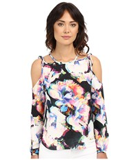 Nicole Miller Summer Layered Floral Blouse Multi Women's Blouse