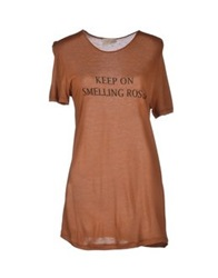 Momoni Momoni T Shirts Brown