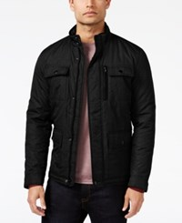 Alfani Men's Mock Collar Full Zip Jacket Only At Macy's Deep Black