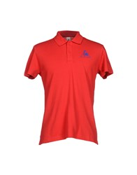 Le Coq Sportif Topwear Polo Shirts Men Red