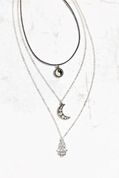Urban Outfitters Roxie Layering Necklace Set Silver