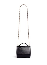 Givenchy 'Pandora Box' Saffiano Patent Leather Bag Black