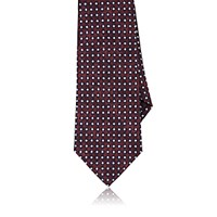 Isaia Men's Abstract Dot Pattern Necktie Red