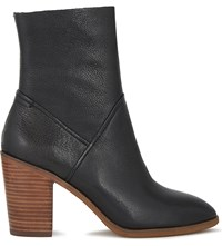 Aldo Fearien Leather Heeled Ankle Boots Black Leather