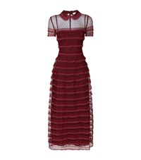 Red Valentino Point D'esprit Tiered Maxi Dress Female