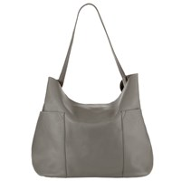 Collection Weekend By John Lewis Magda Raw Edge Leather Shoulder Bag Grey
