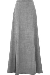 J.Crew Collection Adriana Wool Blend Flannel Maxi Skirt Gray
