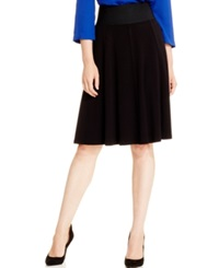 Alfani Elastic Waist Skater Skirt Only At Macy's Deep Black
