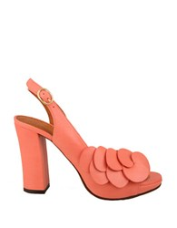 Chie Mihara Camelia Leather High Heel Sandals Pink