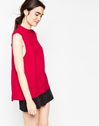 Minimum Vallia Sold Red Tank Deep Red