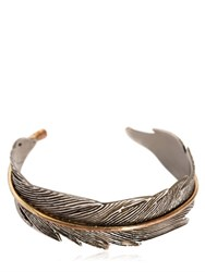 Htc Hollywood Trading Company Feather Metal Cuff Bracelet