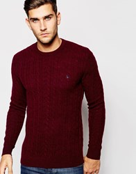 Jack Wills Hove Classic Cable Damsonmarl