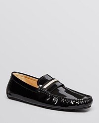 Bally Wabler Patent Leather Driving Loafers Black