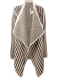 Antonio Marras Striped Open Front Cardigan Black