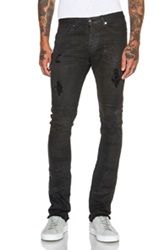 Mr. Completely Clear Wax Jeans In Gray