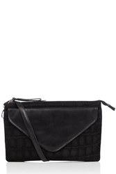 Oasis Fifi Leather Cross Body Bag Black