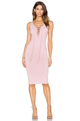 Donna Mizani Lace Up Midi Dress Blush